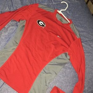 Boys large Nike Georgia bulldogs dri fit shirt
